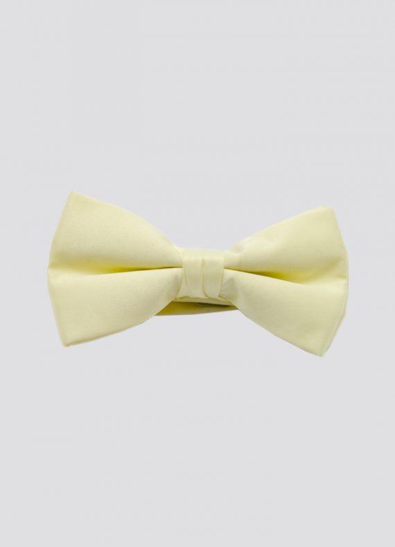 Pre Tied Bow Tie Lemon Yellow
