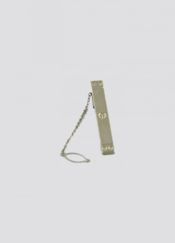 Silver Chain Tie Bar Pin