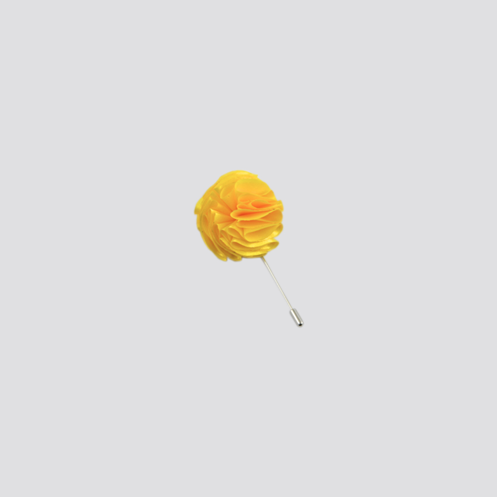 Yellow Flower Lapel Pin Stavas